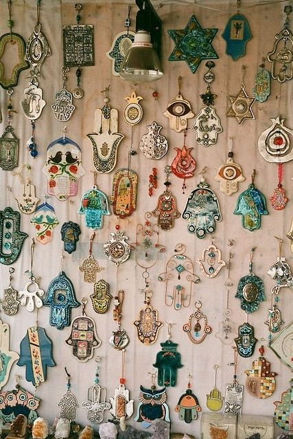 I have collected a few hand of Fatima/hamsa as jewelry and wall decorations over the years. One of them hangs on my entry door and it has be...