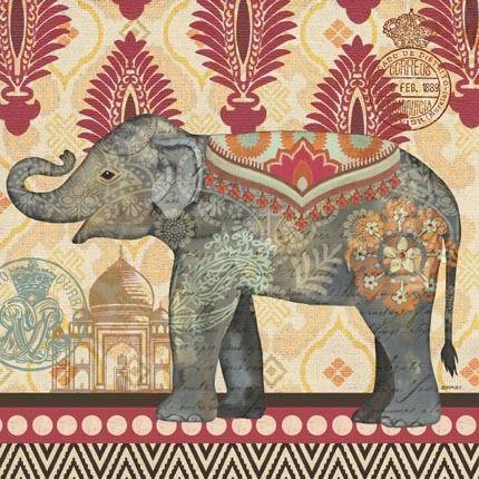 Caravan Elephant Blanket by Jennifer Brinley   Ruth Levison Design