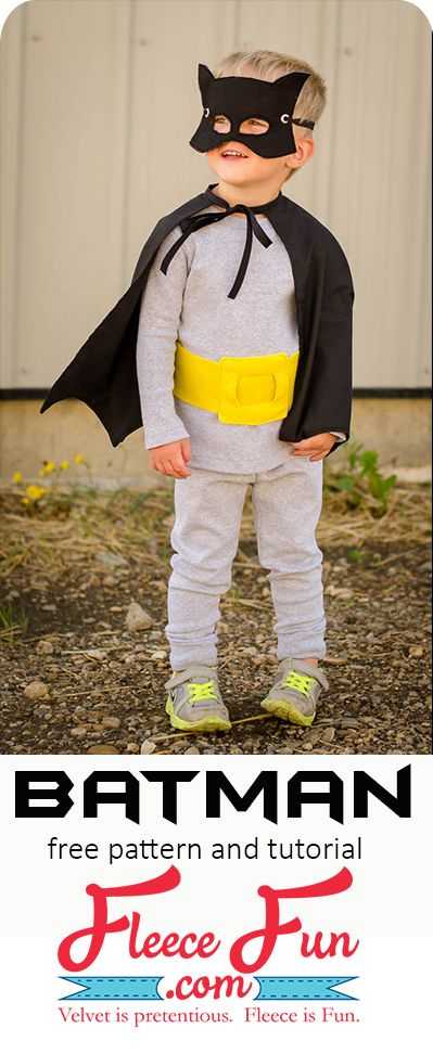 I love this Batman Cape tutorial DIY.  It's perfect for Halloween and dress up!  It has an easy sew pattern and has straight forward instructions. via @FleeceFun