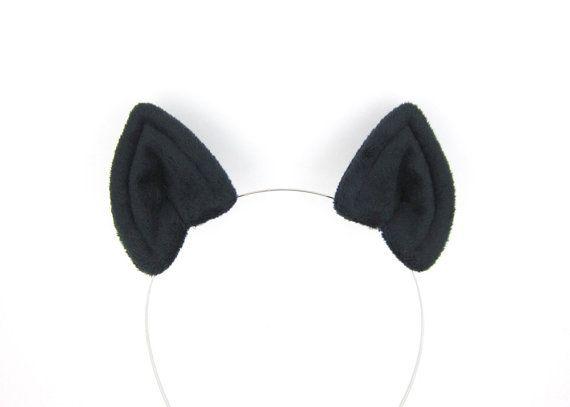 Bat Ears Hair Clips Plush Black Bat Costume Ears Halloween Bat