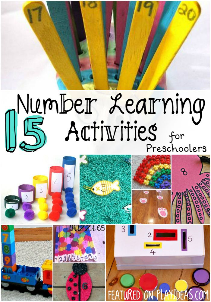 Your child will enjoy learning with these 15 number learning activities for preschoolers! There are so many different activities to try!
