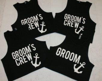 Groomsmen Shirts Bachelor Party with Number by mycustomtees