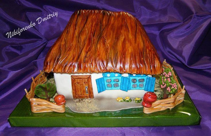 """Торт """"Домик в деревне"""""""