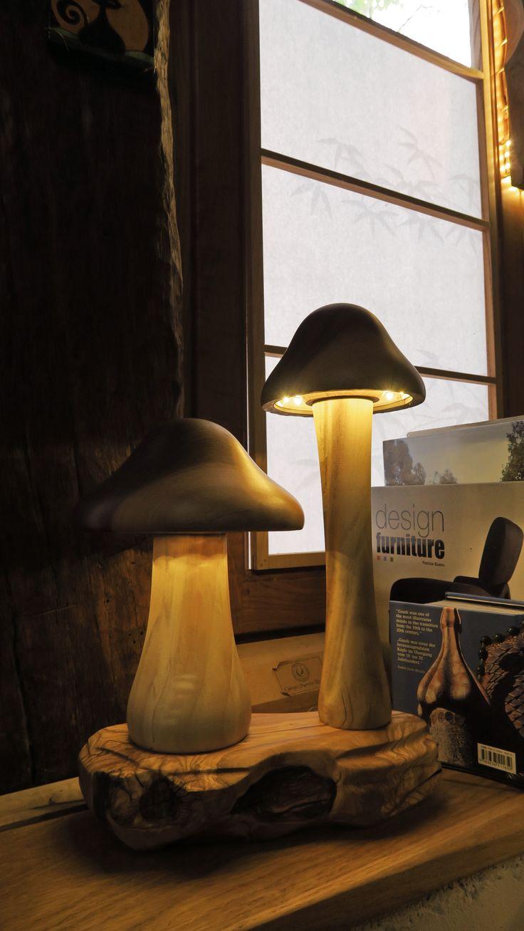 mushrooms lamp