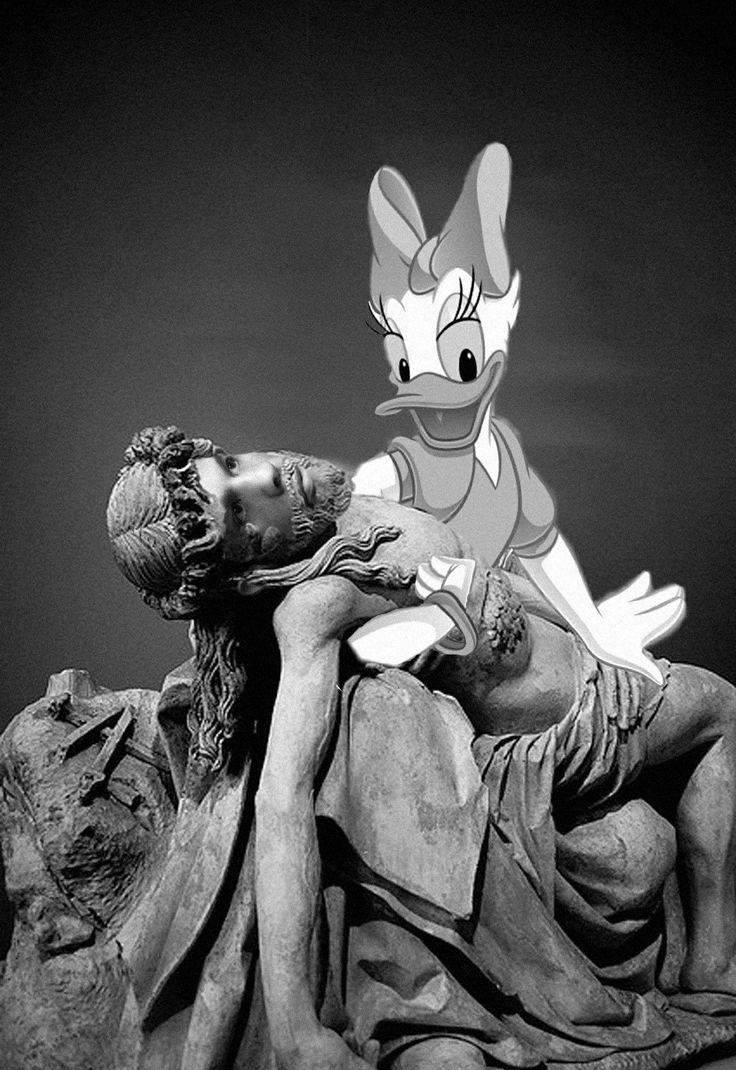 Daisy Duck and Mesus.