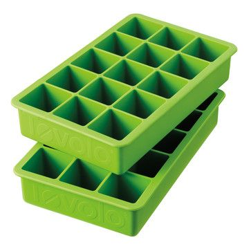 Tovolo: Perfect Cube Ice Tray Green 2Pk, at 33% off! Silicone ice cube trays are awesome, and you get big square cubes!