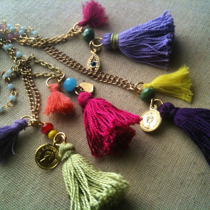 Long Boho glam tassel necklace by Simply F- κολιέ Simply F
