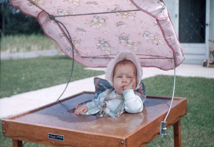 1950 Baby Tenda Made In To High Chair And Play Table