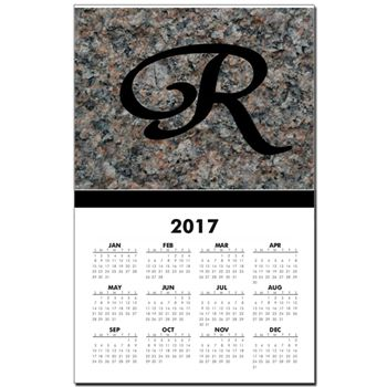 Monogram R Calendar Print by Khoncepts