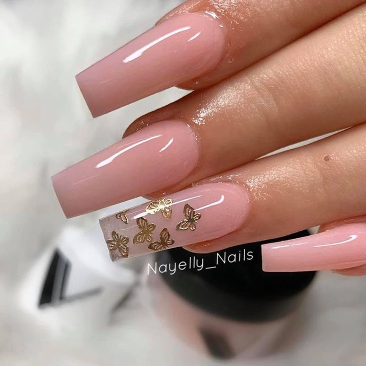 Baby Pink Nails Nails In 2020 Fire Nails Pink Nails Baby Pink Nails