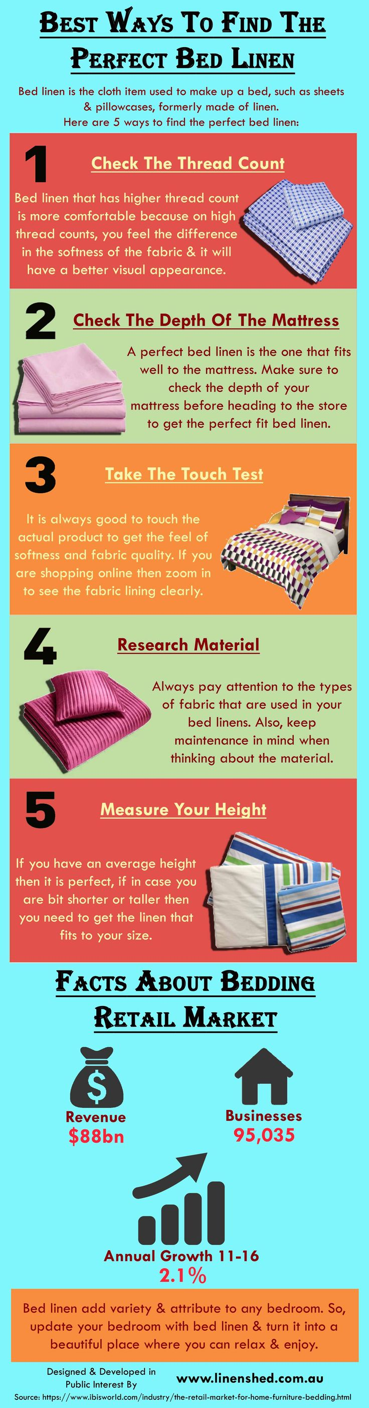 This infographic provide information on Best Ways To Find The Perfect Bed Linen. For more details please visit: https://www.linenshed.com.au.
