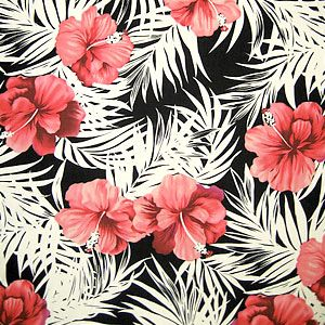 hawaiian print. refernce point hibiscus flower - grandma