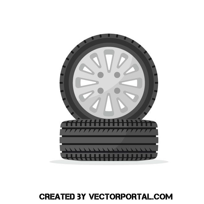 Car Wheel Vector Clip Art Tire Vector Clip Art Car Wheel