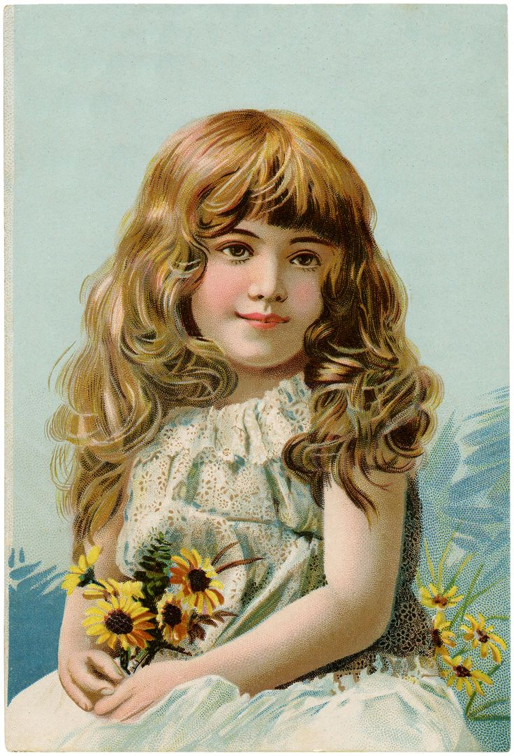 Vintage Pretty Girl Image! - The Graphics Fairy