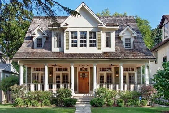 Inspiration front porch winnetka il heavenly homes for Beautiful house fronts