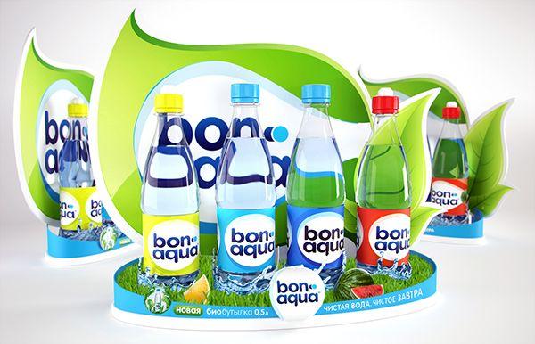 Bon Aqua POSm display on Behance