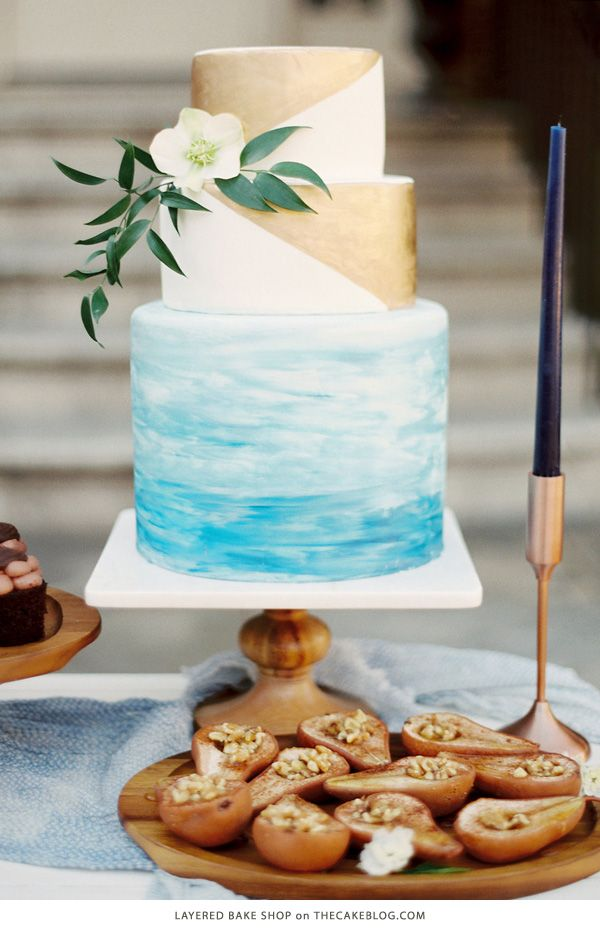 10 Watercolor Cakes | including this design by Layered Bake Shop | on TheCakeBlog.com
