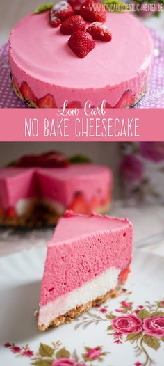 Köstlicher no bake Cheesecake #glutenfrei #zuckerfrei #lowcarb #abnehmen www.lowcarbkoestlichkeiten.de