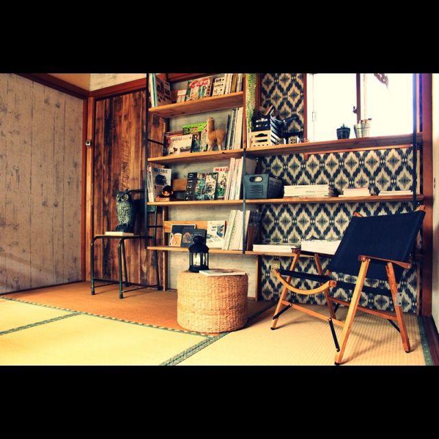 和室/セルフリフォーム/図書音楽室/手作り家具/壁/天井のインテリア実例 - 2015-03-17 14:25:50 | RoomClip(ルームクリップ)
