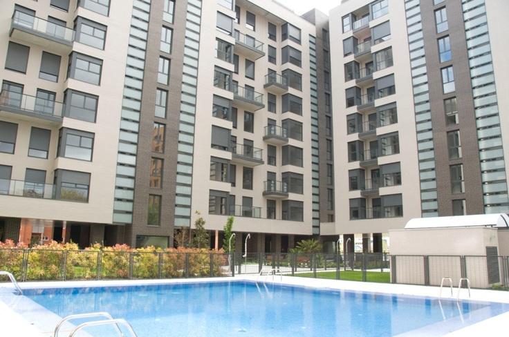 Piscina de nuestra Residencial Célere Tres Cantos #viviendas #Madrid
