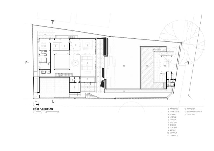Marble House,first floor plan