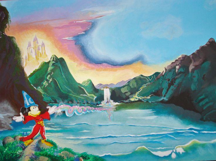 Walt Disney - colori acrilici su tavola di legno Mdf di misure 50x70