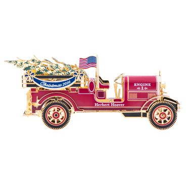<p>The Official 2016 White House Christmas ornament honors the administration of Herbert Hoover, who served as the thirty-first president of the United States from 1929 to 1933. It is inspired by the fire trucks that responded to the 1929 Christmas Eve fire at the White House and the toy engines presented to children ...