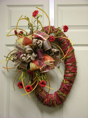 Fall Oval Wrapped Wreath – MilandDil Designs