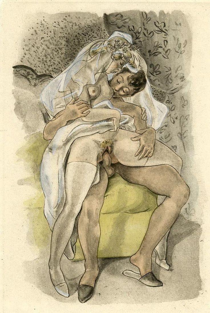 Старые секс рисунки, секс бабы с большим размером грудей