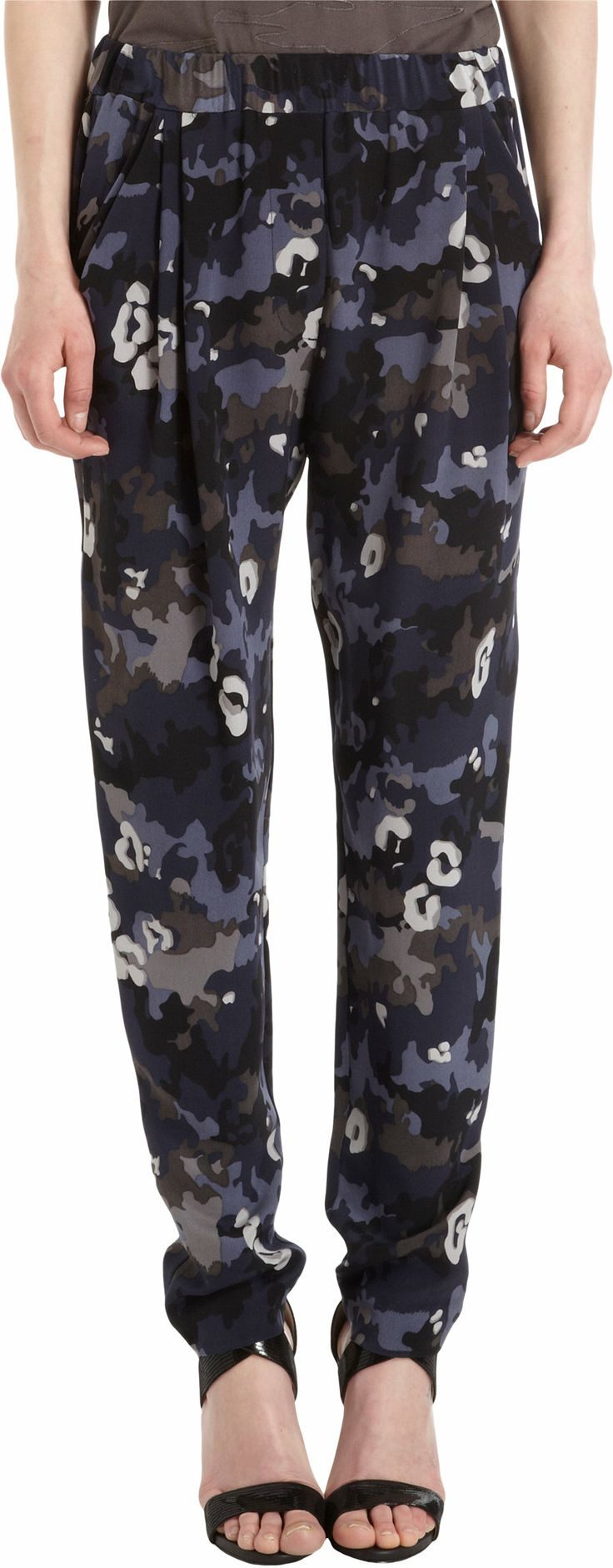 3.1 Phillip Lim Pleated Camo Print Pants at Barneys.com