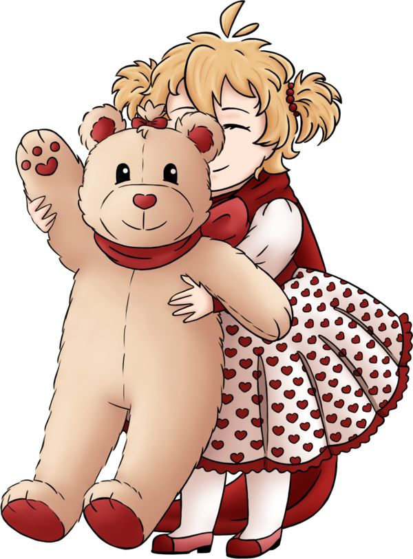 [OC APH] Alaska and her teddy bear by Kei2000 (DA)