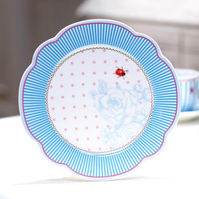 【北欧直輸入】リスベスダール プレート ストライプ Mサイズ 19cm (Lisbeth Dahl Plate Stripie) [HH40072] #manonstore #LisbethDahl