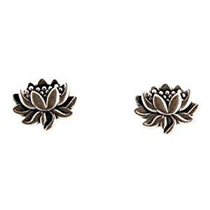 Tiny Detailed Lotus Flower Stud Earrings in Sterling Silver, Suitable for Adults or Children, #7582  http://electmejewellery.com/jewelry/religious-jewelry/religious-earrings/tiny-detailed-lotus-flower-stud-earrings-in-sterling-silver-suitable-for-adults-or-children-7582-com/