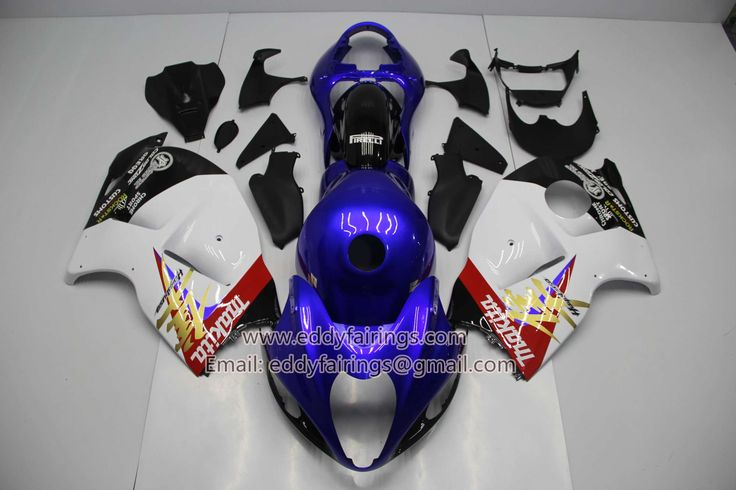 GSXR 1300 HAYABUSA 1999-2007 BLUE AND WHITE WITH TANK COVER