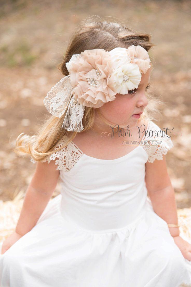 Zara baby hair accessories - Baby Lace Headband Girl Lace Headband Boho Baby Headband Rustic Wedding Headband