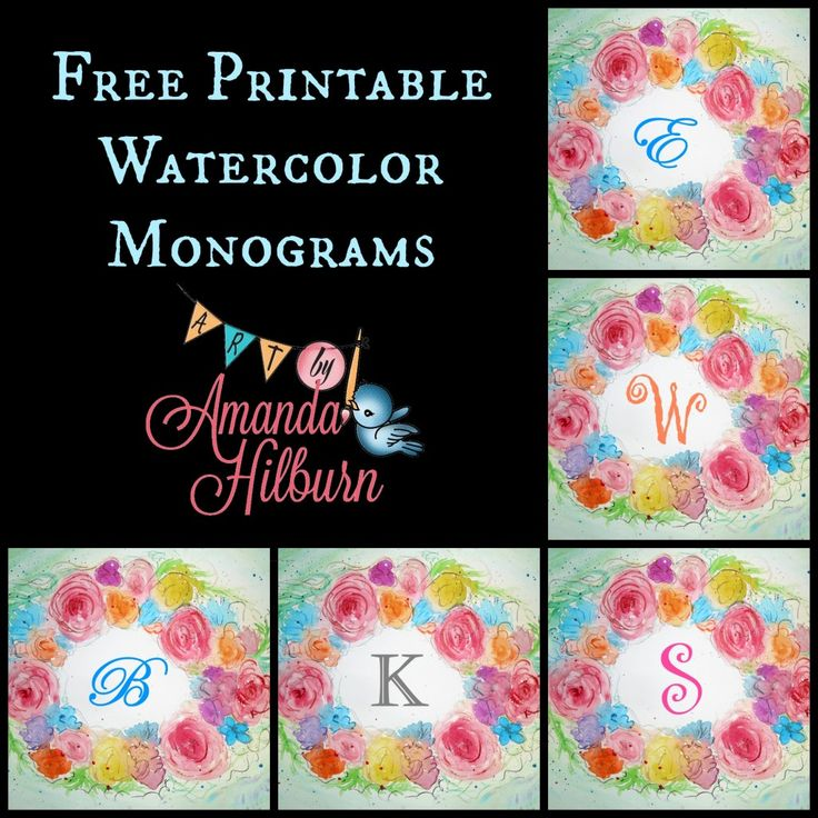56 best images about printablesnumbers alphabet on pinterest initials printable letters and for Free printable monogram initials