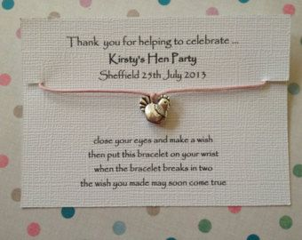 20 x Personalised Hen Party Favour Friendship ~ Wish bracelets ~ Choice of…