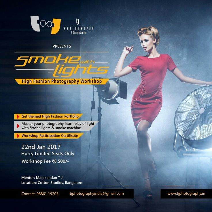 Smoke with lights high fashion photography workshop 22nd Jan 2017 at cottonstudios Bangalore