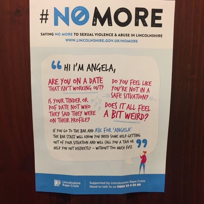 Great idea Brits! How This Poster in a Women's Restroom at a Bar Cleverly Combats Sexual Assault | Adweek