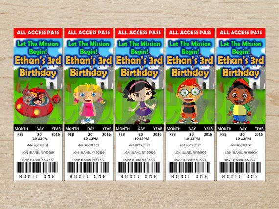 Little Einsteins Invitation Little Einsteins by 5zero5designs