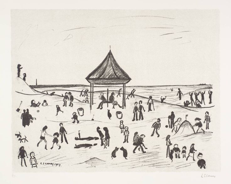 The Pavilion, 1969-72, LS Lowry (medium  lithograph on paper).