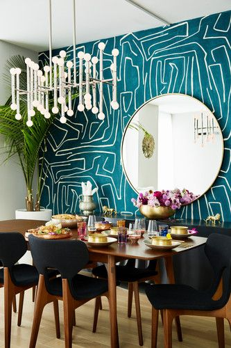 Captivating Modern New York Home With Indian Design Elements | Interiors | Dining Room  Wallpaper, Home Decor Kitchen, Dining Room Walls