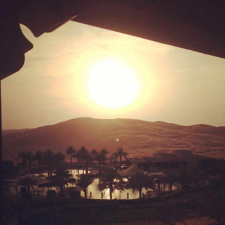 Sunset at Qasr Al Sarab desert resort