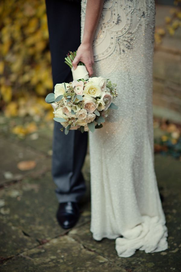 Jenny Packham's Esme for a Charming and Elegant Country House Winter Wedding http://www.mariannetaylorphotography.co.uk/