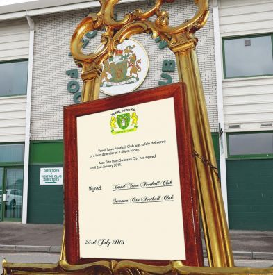 Yeovil Town FC decided to follow in the footsteps of the Duke and Duchess of Cambridge making its announcements by easel.