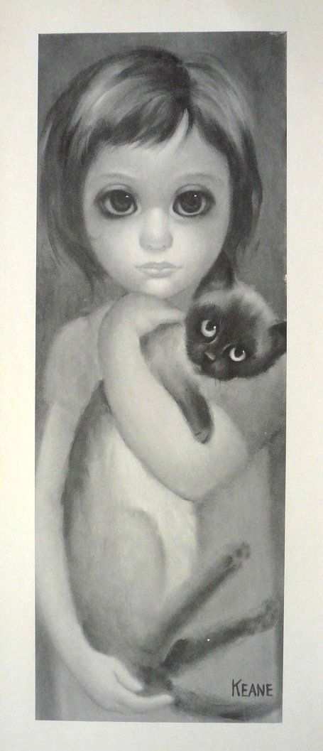 """""""My Kitty"""" - Margaret Keane, 1960  I believe I may have the original painting :)"""