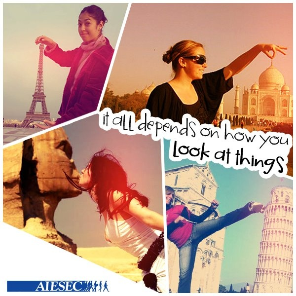 Do you want to look at things differently?  Click here: www.aiesec.in