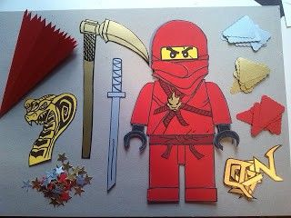 Bastel-Set Ninjago für Schultüten findet ihr auf meinem Blog http://das-creativchen.blogspot.de/
