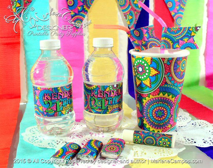 Mandalas Party Decoration - Party Supplies | Printable Party Supplies | Shop Party Supplies online | Artículos para Fiestas | by MarleneCampos.com