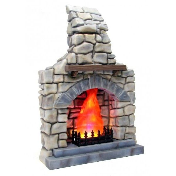 Rustic Stone Fireplace ❤ liked on Polyvore featuring home, home decor, fireplace accessories, rustic home accessories, rustic home decor and stone home decor